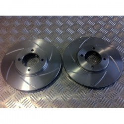 Escort Rally 247mm Vented Grooved Discs