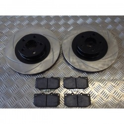 Impreza 294mm Front Grooved Discs and Kevlar Pads