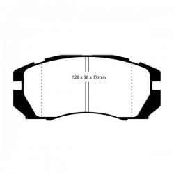 Impreza 2 pot Front Kevlar Pads Cut-Out