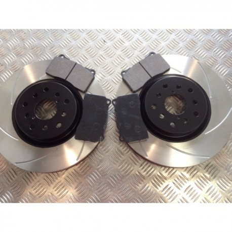 Front Grooved Discs and Kevlar Pads Package STI Impreza