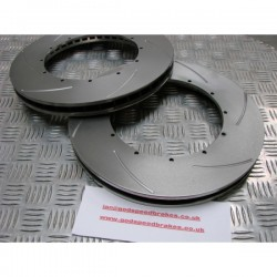335mm Big Brake Kit Replacement Grooved Discs