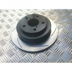 Impreza 266mm Solid Rear Grooved Discs