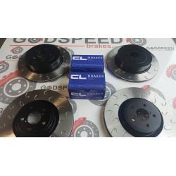 Impreza STI F&R G Hook Discs and CL RC5+ Pads