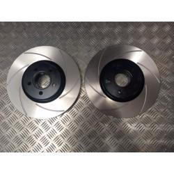 R53 Mini Cooper S JCW Front 6 Groove Discs