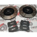 """Front """"G Hook""""  Groove Discs and Kevlar Pads Package STI Impreza"""
